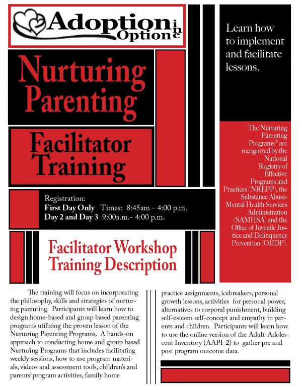 Nurturing Parenting Facilitator Training